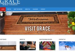 Grace Bible Church Leesville, LA website by Oxblaze Media