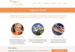 Orange Magnolia Literary website by Oxblaze Media