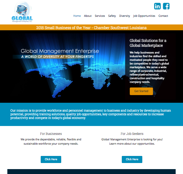 Global Management Enterprise website