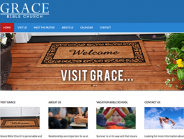 Grace Bible Church Leesville, LA website by Oxblaze Media