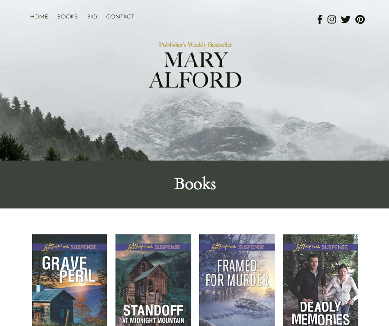 Mary Alford's author website - Christian Romantic Suspense
